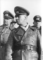 Field Marshal Erwin Rommel inspecting the Atlantic Wall at Le Treport, France, mid-Feb 1944
