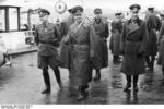 German Army Field Marshal Erwin Rommel and General Hans von Obstfelder at Hendaye, France, 9 Feb 1944