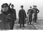 Field Marshal Erwin Rommel and Lieutenant Colonel George Friedrich von Tempelhoff at Barneville, France, 16 Jan 1944