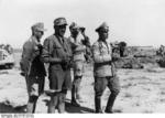 German Field Marshal Erwin Rommel observing the field near El Alamein, Egypt, 18 Jun 1942