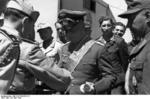 Rommel receiving the title of the Grand Officer of the Colonial Order of the Star of Italy, North Africa, 28 Apr 1942, photo 1 of 3