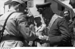 Rommel receiving the title of the Grand Officer of the Colonial Order of the Star of Italy, North Africa, 28 Apr 1942, photo 2 of 3