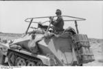 Erwin Rommel in the SdKfz. 250/3 command vehicle