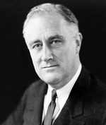 Portrait of US President Franklin Roosevelt, 27 Dec 1933