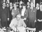 US President Roosevelt signing the Servicemen