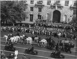 Funeral procession of Roosevelt, Pennsylvania Avenue, Washington, DC, United States, 14 Apr 1945