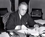 Roosevelt signing the Lend-Lease bill, 11 Mar 1941