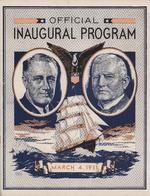 Inaugural program of Franklin Roosevelt and John Garner, 4 Mar 1933