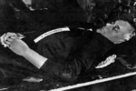 The body of Alfred Rosenberg after his execution, Nürnberg, Germany, 16 Oct 1946