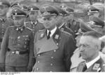 German officials Alfred Meyer, Erich Koch, and Alfred Rosenberg at Kiev, Ukraine, Jun 1942