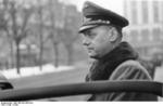 Alfred Rosenberg in the street of a city, date unknown