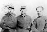 Liu Shaoqi, Jacob Rosenfeld, and Chen Yi in Yancheng, Jiangsu Province, China, May 1943