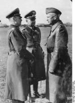 Rundstedt, Reichenau, and Blaskowitz at an airfield in Warsaw, Poland awaiting the arrival of Hitler, Sep-Oct 1939