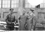 Gerd von Rundstedt, Benito Mussolini, and Adolf Hitler visiting the Eastern Front, 1941