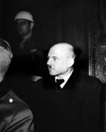 Fritz Sauckel at the Nuremberg Trials, circa late 1945 to early 1946