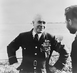 British Air Vice-Marshal Richard Saul in conversation with another officer, date unknown