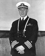 Scott, captain of cruiser Pensacola, circa 1940