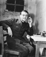 Otto Skorzeny in prison, Nuremberg, Germany, 24 Nov 1945