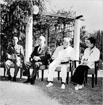 Chiang Kaishek, Franklin Roosevelt, Winston Churchill, and Song Meiling at Cairo, Egypt, Nov 1943, photo 1 of 4