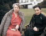 First Lady Eleanor Roosevelt of the United States and Song Meiling of the Republic of China, Washington DC, United States, 24 Feb 1943, photo 1 of 2