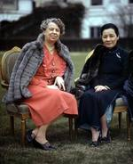 First Lady Eleanor Roosevelt of the United States and Song Meiling of the Republic of China, Washington DC, United States, 24 Feb 1943, photo 2 of 2