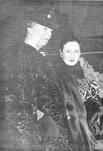 First Lady Eleanor Roosevelt of the United States and Song Meiling of the Republic of China, Washington DC, United States, 17 Feb 1943