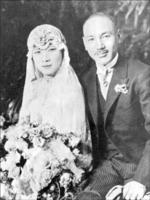 Wedding photo of Chiang Kaishek and Song Meiling, Shanghai, China, 1 Dec 1927, photo 1 of 2