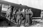 German Field Marshal Hugo Sperrle visiting an airfield, France, spring 1942, photo 1 of 5