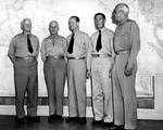 Nimitz, Fletcher, Spruance, and others, CinCPacHQ, Pearl Harbor, 1944