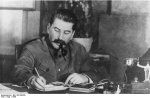 Joseph Stalin at a desk, 1949