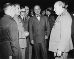 Stalin, Truman, and Churchill in conversation, Potsdam, Germany, Jul 1945