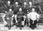 Attlee, Truman, and Stalin at Potsdam Conference, circa 28 Jul to 1 Aug 1945, photo 4 of 5