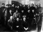 Joseph Stalin, Vladmir Lenin, Mikhail Kalinin, and other participants of the 8th Congress of the Russian Communist Party, Mar 1919