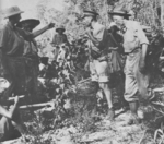 General Stilwell with troops in Burma, 1942