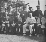 Chiang Kaishek, Franklin Roosevelt, Winston Churchill, and Song Meiling, Cairo, Egypt, Nov 1943, photo 4 of 4
