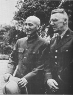 Chiang Kaishek and Joseph Stilwell at Maymyo, Burma, 19 Apr 1942