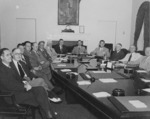 US President Harry Truman with his cabinet, White House, Washington DC, United States, 10 Aug 1945, photo 4 of 5