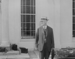 Henry Stimson at the White House, Washington DC, United States, 10 Aug 1945, photo 1 of 2