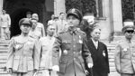 Chiang Kaishek, Sun Liren, and others at the Presidential Office Building, Taipei, Taiwan, 10 Oct 1954