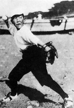 Prince Takahito playing baseball, spring 1924