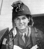 US Major General Maxwell Taylor posing in paratrooper equipment, circa 1944-1945
