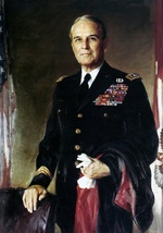 Oil painting of US Army General Maxwell Taylor, Chairman of the Joint Chiefs of Staff, circa 1962-1964