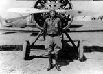Clarence Tinker in front of an aircraft, date unknown