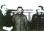 Molotov, Stalin, and Tito, Moscow, 11 Apr 1945