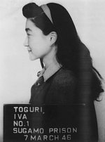 Mug shot of Iva Toguri, taken at Sugamo Prison, Tokyo, Japan, 7 Mar 1946, photo 2 of 2