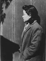 Iva Toguri at Radio Tokyo, Japan, 5 Dec 1944, photo 3 of 5