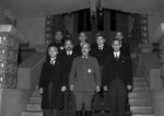 Prime Minister Tojo and his cabinet ministers outside the Kantei (Prime Minister