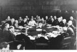 Stalin, Attlee, Truman, and others at the Potsdam Conference, Germany, 28 Jul 1945, photo 1 of 4
