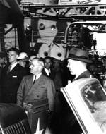 Truman aboard USS Augusta en route to Potsdam Conference, 7 Jul 1945, 1 of 3