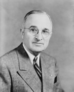 Portrait of US President Harry Truman, 27 Jun 1945